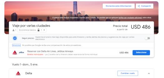 Newyork to Lima